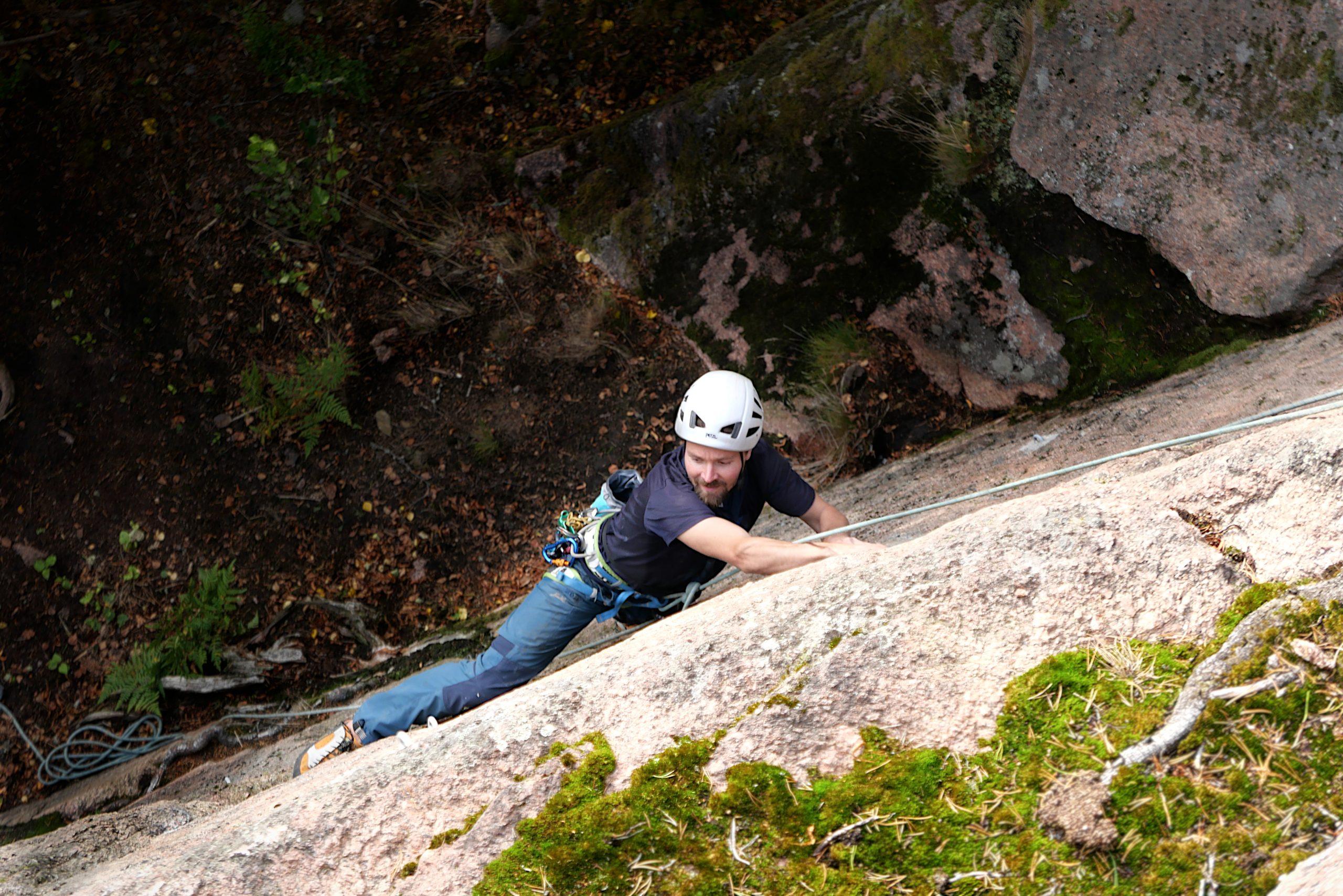 Kalliokiipeilyä Senatsbergetillä